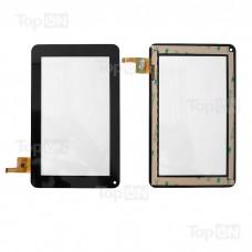 """Сенсорное стекло (тачскрин) для планшета Digma iDj7n, MOMO9 MRM-POWER 7"""" 840x480. 8-6221 JYT. Черный."""