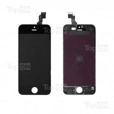 """Матрица и тачскрин (сенсорное стекло) для смартфона Apple iPhone 5C, 4"""" 640x1136, A+. Черный."""