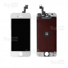"Матрица и тачскрин (сенсорное стекло) для смартфона Apple iPhone 5S, 4"" 640x1136, A+. Белый."