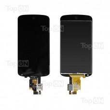 """Матрица и тачскрин (сенсорное стекло) для смартфона LG Nexus 4, 4.7"""" 768x1280, A+. Черный, без рамки."""