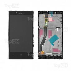 """Матрица и тачскрин (сенсорное стекло) в сборе для смартфона Nokia Lumia 720, дисплей 4.3"""" 480x800, A+. Черный."""