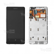 """Матрица и тачскрин (сенсорное стекло) в сборе для смартфона Nokia Lumia 800, дисплей 3.7"""" 480x800, A+. Черный."""