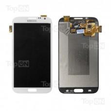 """Матрица и тачскрин (сенсорное стекло) в сборе для смартфона Samsung Galaxy Note 2, дисплей 5.55"""" 720x1280, A+. Белый."""