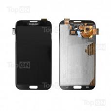"""Матрица и тачскрин (сенсорное стекло) в сборе для смартфона Samsung Galaxy Note 2 GT-N7100, дисплей 5.55"""" 720x1280, A+. Серый."""