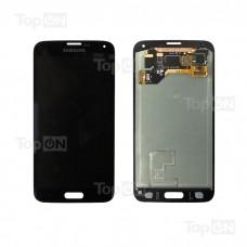 """Матрица и тачскрин (сенсорное стекло) в сборе для смартфона Samsung Galaxy S5 SM-G900F, дисплей 5.1"""" 1080x1920, A+. Черный."""