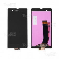 "Матрица и тачскрин (сенсорное стекло) в сборе для смартфона Sony Xperia Z C6602,  5"" 1080x1920, A+.Черный, без рамки."
