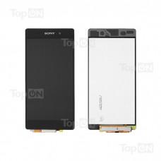 """Матрица и тачскрин (сенсорное стекло) в сборе для смартфона Sony Xperia Z2, 5.2"""" 1080x1920, A+. Черный."""