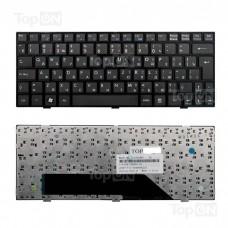 Клавиатура для ноутбука MSI U135, U135DX, U160, U160DX Series. Г-образный Enter. Черная, с черной рамкой. PN: MS-N014, V103622CK1.