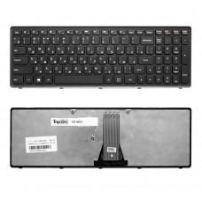 Клавиатура для ноутбука Lenovo IdeaPad Flex 15, G500S, G505, S500, S510, Z510 Series. Плоский Enter. Черная, с черной рамкой. PN: 25213602