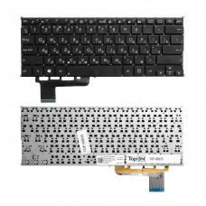 Клавиатура для ноутбука Asus X201, X201E, X202E, S200, S200E, VivoBook S200 Series. Плоский Enter. Черная, без рамки. PN: 0KNB0-1105RU00, 9Z.N8KSQ.60R