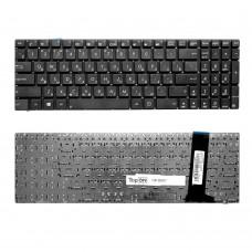 Клавиатура для ноутбука Asus G56, N56, N76, R500, R505, Zenbook U500VZ Series. Плоский Enter. Черная, без рамки. PN: 9Z.N8BBQ.G0R, 0KNB0-6120RU00.