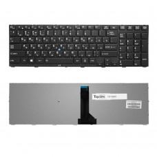 Клавиатура для ноутбука Toshiba Tecra R850, Satellite Pro R850 Series. Г-образный Enter. Черная, с черной рамкой. PN: MP-10K96SU6356.