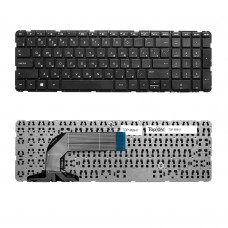 Клавиатура для ноутбука HP Pavilion Envy 17-e, 17-e000, 17-e100 Series. Плоский Enter. Черная, без рамки. PN: 725365-001, AER68U00110.