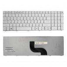 Клавиатура для ноутбука Packard Bell TM80, TM81, TM82, TM83, TM85 Series. Плоский Enter. Белая, без рамки. PN: 90.4HS07.U0R, 9Z.N1H82.D0R.